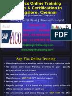 Sap Fico Online Training Classes & Certification in Bangalore, Chennai