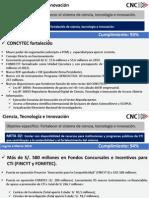 Reporte de Resultados Ciencia, Tecnología e Innovación (CNC)