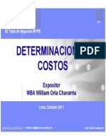 Determinacion de Costos William Oria
