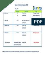 Tennis Training Schedule 14 - 15