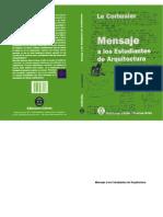 Mensaje a Los Estudiantes de Arq- Le Corbusiere
