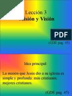 Leccion 03 Mision y Vision