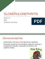 Glomerulonephritis Presentation