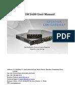 OpenVox VoxStack VS-GW1600-20G User Manual