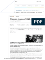 10 Secrets of Successful B2B Selling