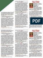 A5 - Flyers - Santa Filomena - Novena y Oraciones