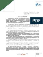 Instrucción 2010.S-118 Tratamiento Residual Vehículo