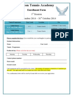 Falcon Tennis Register Form 2014