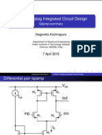 Opamp Design and Summary by Nagendra Krishnapura
