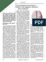 Menschen Ohne Gehirn Die Größe Des Gehirns Ist Fur Die Denkfahigkeit Nicht Entscheidend