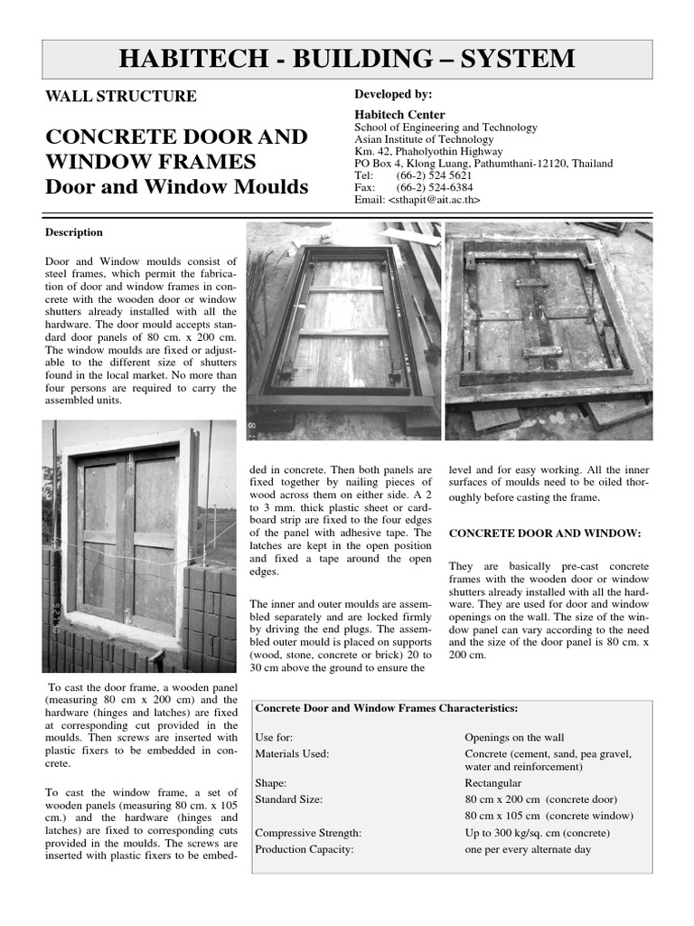 Concrete Door & Window Frames | Door | Concrete