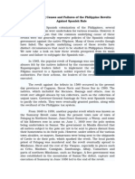 PHILIPPINE HISTORY-The Underlying Causes and Failures of the Philippine Revolts Against Spainish Rule