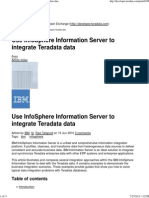 Use InfoSphere Information Server to Integrate Teradata Stages