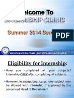 Internship Clinic Summer 2014