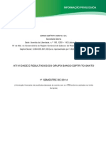 Resultados do 1.º Semestre de 2014 do Banco Espírito Santo (BES)