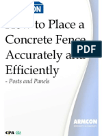 How to Place Concrete Posts Accurately and Efficiently