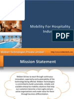 Mobility for Hospitality Industry