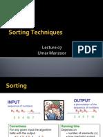 L07 Sorting Techniques