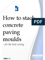 How to Stack Concrete Paving Moulds for the Best Curing