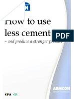 How to Use Less Cement