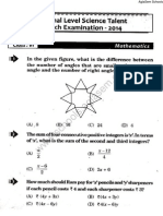 NSTSE 2014 Question Paper for Class 6