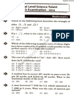 NSTSE 2014 Question Paper for Class 8