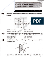 NSTSE 2014 Question Paper for Class 9
