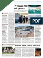 28.06.2014 La Nuova Ve_expo Aquae Venezia 2015 La Piattaforma e' Pronta