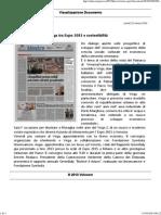 31.03.2014 La Nuova_ Moraglia Ospite Del Vega Tra Expo 2015 e Sostenibilita'