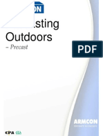 Precasting Outdoors