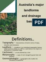 major landforms and drainage basins