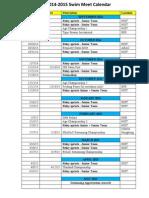 Swim Meet Calendar 2014 15