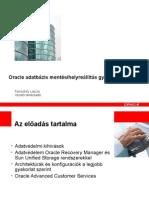 Oracle Adatbazis Mentes Gyakorlata 330608 Hu