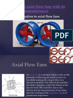 Working of Axial Flow Fans With Its Manufacturers