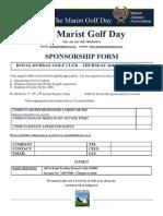 Golf Day 2014 Sponsorship Form