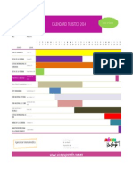 Calendario Turístico Agosto 2014