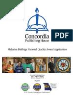 2011 Concordia Award Application Summary