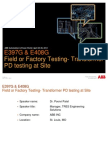 ABB-318-WPO Field or Factory Testing-Transformer PD Testing at Site