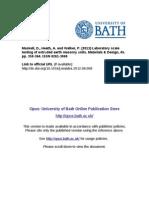 Laboratory Scale Testing of Extruded Earth Masonry Units