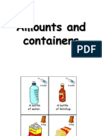 Amounts and Containers