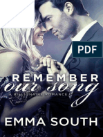 Remember Our Song a Billionaire Romance (Our Song #2) by Emma South