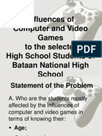 Influences of Computer and Video Games