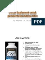 Daftar Suplement Untuk Pembentukan Massa Otot