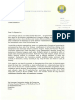 OPCW DG letter to Pancretan Commission over Syrian chemicals