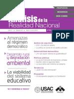Revista Análisis de la Realidad Nacional No. 8