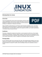 Introduction to Linux Course Outline