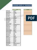 Actividade 6 Excel Validación de Datos