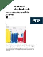Colorantes Naturales Alimentarios Obtenidos de Microalgas