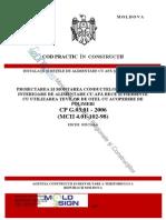 CP_G.03.01-2006 Proiectarea Şi Montarea Conductelor Sistemelor Interioară de Alimentare Cu Apă