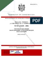 NCM_G.04.08-2006 Izolaţia Termică a Utilajului Şi a Conductelor